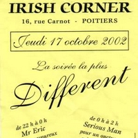 Review soirée Different à l'Irish Corner (Poitiers) le 17/10/2002